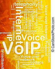 VoIP background concept - Background concept wordcloud...