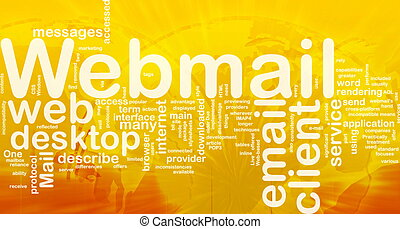 Webmail background concept - Background concept wordcloud...