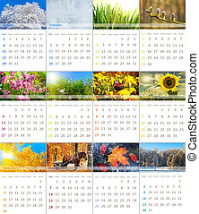 calendar 2012 - 2012 wall calendar with seasonal nature...