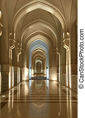 Archway at the Sultans Place in Muscat, Oman