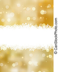 Gold christmas background with copy space. EPS 8 vector file...