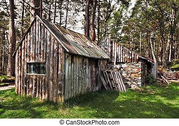 Derelict shack near Loch an Eilein