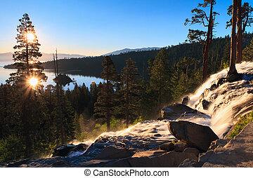 Emerald Bay - sunrise over Emerald Bay, Lake Tahoe