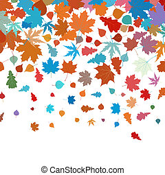 Autumn leafs abstract background. EPS 8