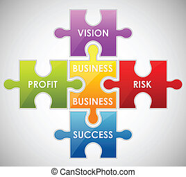 Business Puzzle - illustration of piece of jigsaw puzzle...