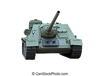 self-propelled gun - isolated self-propelled armored...