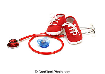 Pediatrics - An isolated shot of objects relating to the...
