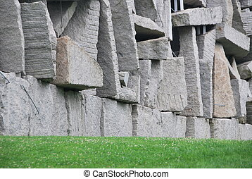 Stone blocks - View of stone blocks in a park