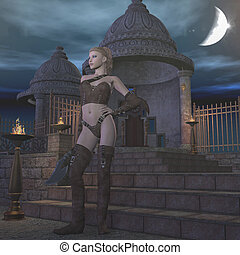 fantasy scene - 3d render