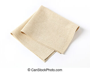 Napkin - Small folded linen napkin - studio shot