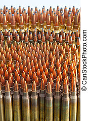 ammo - .223, .243, 300 win mag ammo lined up