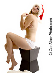 Santa Baby! - Santa\'s hottest helper in panties and a Santa...