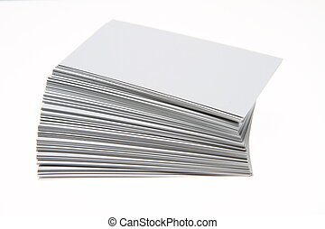 Blank business cards Blank business - Stack of blank white...