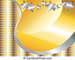 Gold and silver celebration background