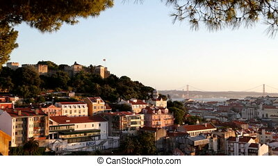 Lisbon, Portugal - Panorama of the Portuguese capital...