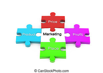Marketing puzzle concept