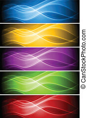 Set of vibrant banners - Abstract wavy banners collection....
