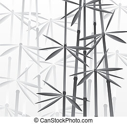vector illustration of bamboo forest