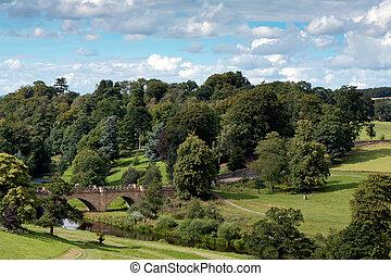 aln, Most,  Alnwick, na, zamek, Rzeka, Grunta