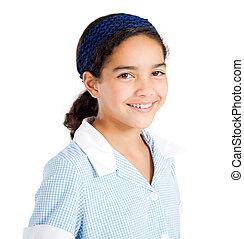 preteen schoolgirl portrait