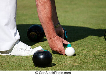 Lawn bowls match at Colemans Hatch East Sussex