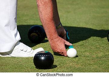 Lawn bowls match at Colemans Hatch East Sussex