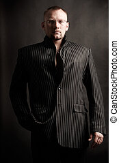 Fashionable Man in Suit Jacket - Fashionable Man in Suit...