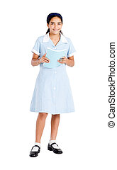 preteen schoolgirl in uniform