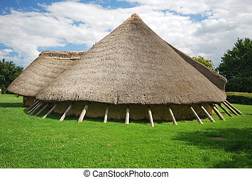 stone age house - ancient stone age home