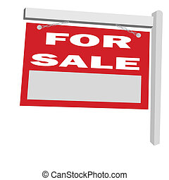 for sale sign post
