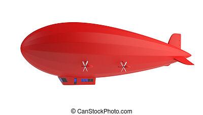 zeppelin, rojo