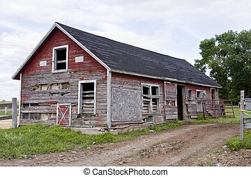 vintage rustic shed - vintage barn shed with a dirt road and...