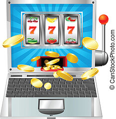 Laptop slot machine concept - Laptop fruit machine online...