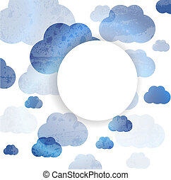 Sky And Cloud, Vector Illustration abstract  background.