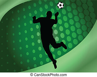 soccer background - vector