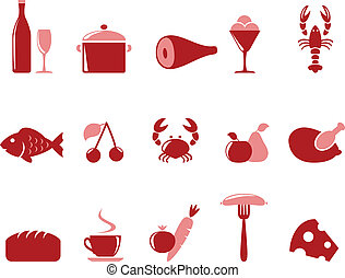 Icons food set - Food icon set vector format