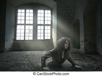 lost woman in the vacated room