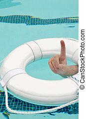 Life Preserver - Man drowning