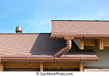 Rain gutter - House Roof and Gutters