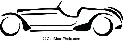 Car silhouette. - Car silhouette on white background vector.
