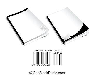 Book covers with bar code - Two blank book covers with...