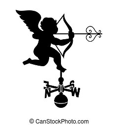 Cupid weather vane - Classic cupid weather vane with...