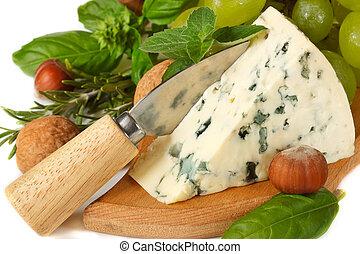 azul, queijo