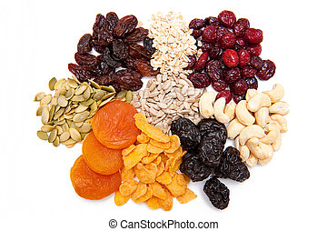 Healthy eating collection on the white background