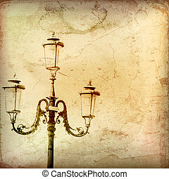 Vintage Gas Light Backround
