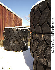 Truck tires in winter