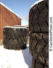 Truck tires in winter