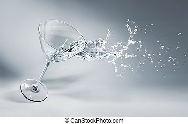 Glass of water and ice on a nice background