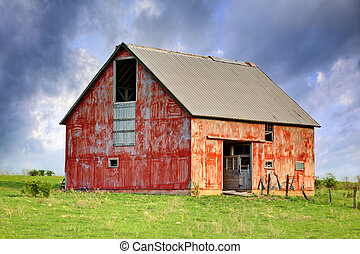 Abandoned Barn - A High Dynamic Range image of an old...