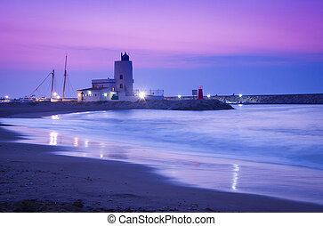 Puerto La Duquesa Sunrise - A violet sunrise in Duquesa...